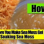 Soaking Sea Moss